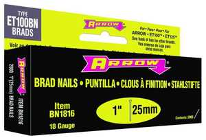 Arrow Fastener Co BN1816B 1-Inch 18-Gauge Brown Brad Nails