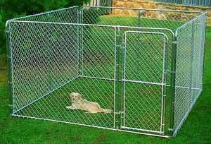 Stephens Pipe & Steel DKS11010 10x10x6 ft Dog Kennel