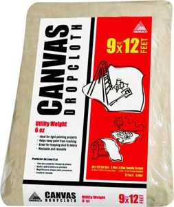 Trimaco 56701 9x12 ft Utility Weight Canvas