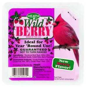 HEATH MFG DD-15 All Season Berry Blast Suet 11.25 oz