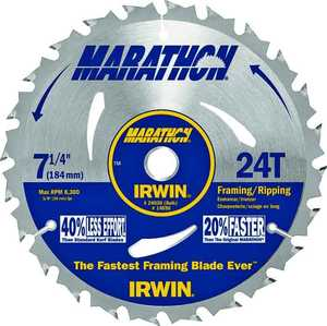 Irwin 24030 7-1/4 Gen Purpose Circular Saw Blade
