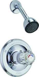 Delta Faucet 1324 Chrome Shower Faucet 1 Handle Press Balanced