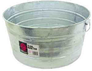 Dover Parkersburg 2 15 Gal Galvanized Round Wash Tub