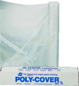 Lbm Poly 4X8-C Clear Poly Film 8x100 Ft 4 Mil