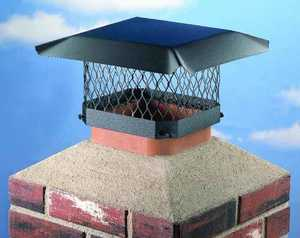 Shelter SC99 9 x 9-Inch Black Powder Coated Stainless Steel Chimney Cap