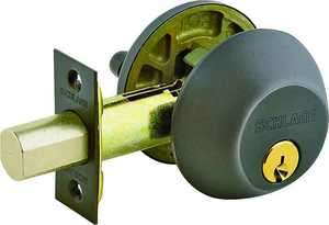 Schlage Lock B60NV716 Single Cylinder Deadbolt Aged Bronze