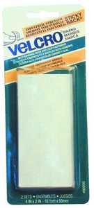 Velcro Usa Inc 90200 4x2 in White Velcro Strip Fastener