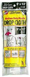 Warp Brothers PC-72 9x12 ft .4mil Plastic Dropcloth