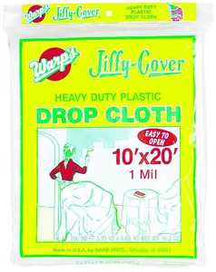 Warp Brothers JC-1020 1mil Plastic Dropcloth 10x20 ft