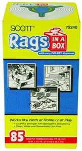 Kimberly Clark 75240 Scott Rags In A Box