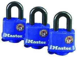Master Lock 312TRI 1-1/2-Inch Covered Tumbler Padlock