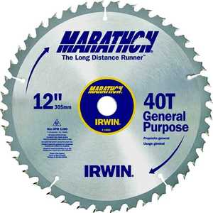 Irwin 14080 12 in 40T Miter/Table Saw Blade