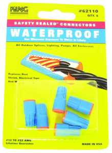 King Safety Products 62110 12-22 Blue/Orange Waterproof Wire Connector