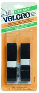 Velcro Usa Inc 90078 18x3/4 Black Velcro Tape Fast