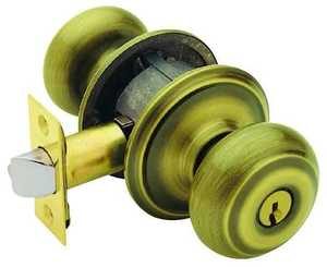 Schlage Lock F51VGEO609K4 Georgian Entry K4 Ant Brass