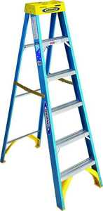 Werner Co 6006 6 ft Type I Fiberglass Step ladder