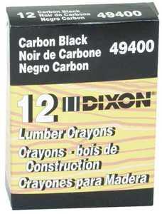 Dixon Ticonderoga 49400 Black Lumber Crayon