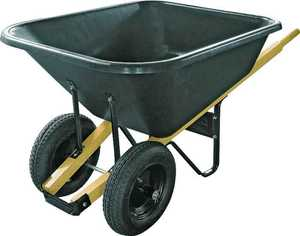 Landscapers Select 34565 8 Cu. Ft. Poly Wheelbarrow