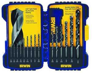 Irwin 314015 15pc Black Oxide Hss Bit Set