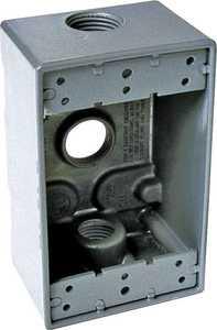 Bell Weatherproof 5324-0 1-Gang Gray Aluminum 3 Outlet Box