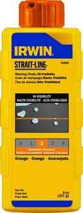Irwin 64905 8 oz Orange Chalk