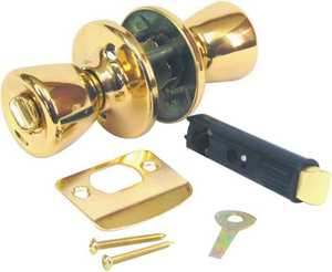 United States Hardware D-600B Mobile Home Brass Privacy Lockset