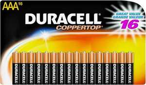 Duracell MN2400B16 Duracell Battery AAA 16 Pack