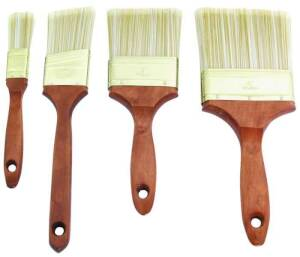 MintCraft A 22040 4 Piece Wood Handle Brush Set