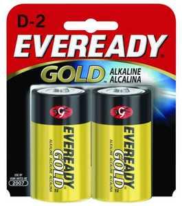 Energizer Battery A95BP-2 Eveready Alkaline D Battery 2pk