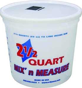 Encore Plastics 61086 Mix-N-Measure Container 2.5 Qt