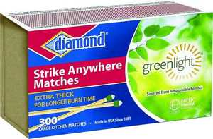 Jarden Home Brands 02123 Diamond Matches 300-Count