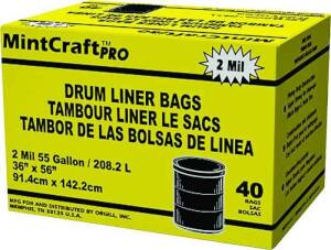 Primrose Plastics 55040 55 Gal 2m Drum Liner Black