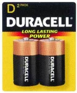 Duracell MN1300B2Z Duracell D Alkaline Battery 2 Pack