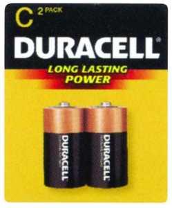 Duracell MN1400B2Z C Alkaline Battery 2 Pack