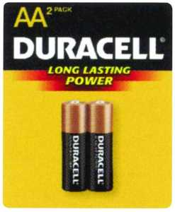 Duracell MN1500B2Z Copper Top AA Battery 2 Pack