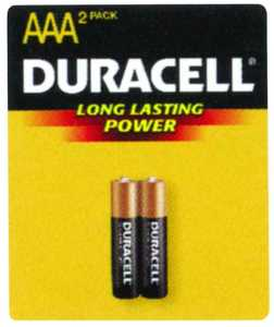 Duracell MN2400B2Z Copper Top AAA Battery 2 Pack