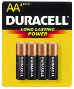 Duracell MN1500B4Z Copper Top AA Battery 4 Pack