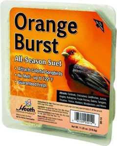 HEATH MFG DD-14 All Season Orange Burst Suet 11.25 oz