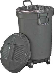 United Plastics RM133901 32 Gal Roughneck Wheeled Garbage Can