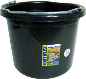 Fortex/Fortiflex FB124BX 24 Qt Flat Side Bucket Black