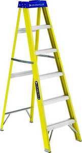 Louisville Ladder FS2006 6-Foot Type 1 Fiberglass Step Ladder 250-Lb Rated