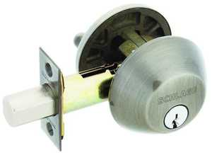 Schlage Lock B60NV620 1-Cylinder Deadbolt K4 Pewter