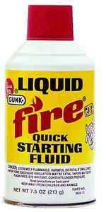 Gunk M3911 7.5 oz Liquid Fire Starting Fluid