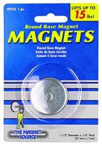Master Magnetics 07216 15lb Lift Roundd Base Magnet