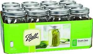Jarden Home Brands 67000 Qt Wide Mason Canning Jar