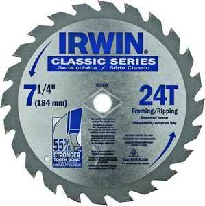 Irwin 25130 7-1/4 24t Circular Saw Blade