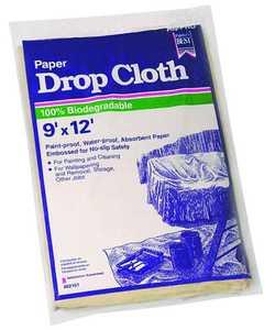 Trimaco 02101 9x12 ft Heavy Duty Paper Dropcloth