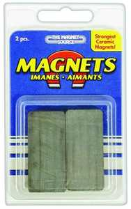 Master Magnetics 07044 3/8x7/8x1-7/8 in Ceramic Magnet