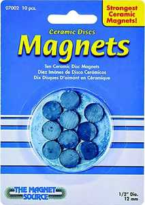 Master Magnetics 07002 10pc Ceramic Disc Magnet