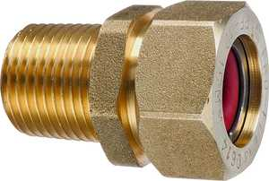 Pro-flex PFMF-1212 Tube To Pipe Adapter Male Fitting 1/2 in Brass